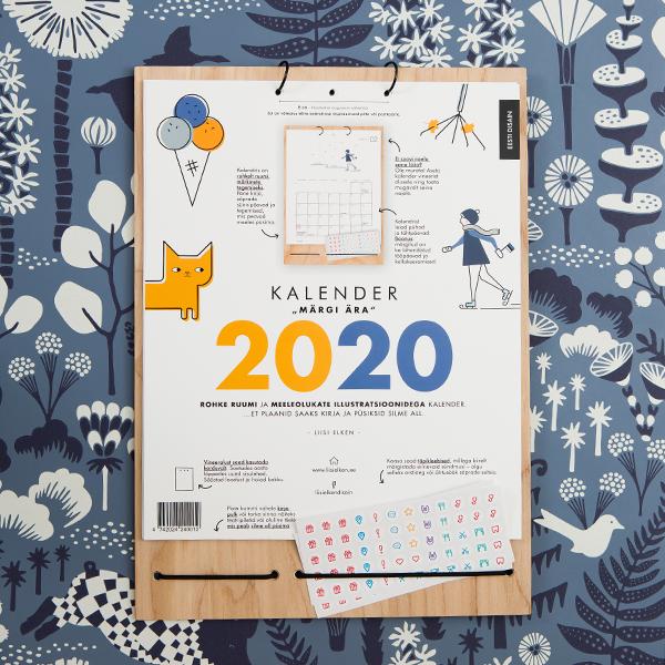 Kalender Märgi ära 2020 illustratsioonidega