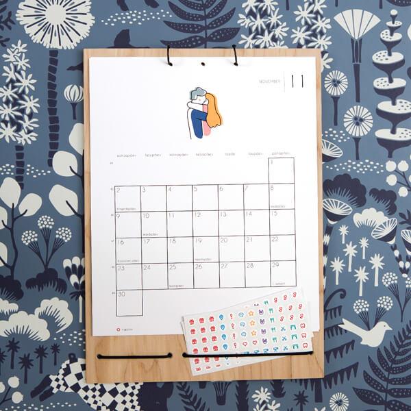 Kalender Märgi ära 2020 novebrikuu vaade