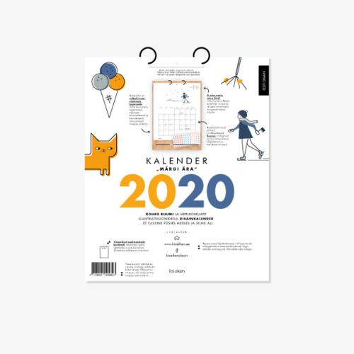 Kalender Märgi ära 2020 sisulehed