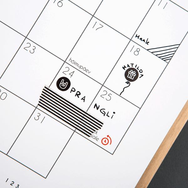 Kalender Märgi ära kleebised