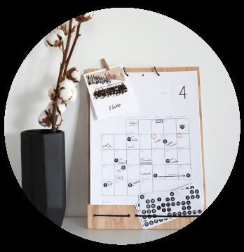 Kalender Märgi ära 2020 kodus