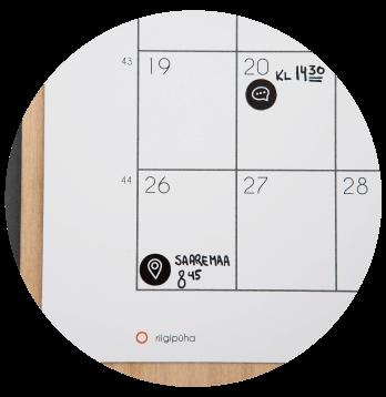 Kalender Märgi ära rohkelt ruumi